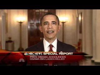 Osama bin Laden is dead, Obama Speech at White House