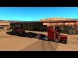 Multiplayer American Truck Simulator  Transportando Tractores para Jackpot  Lowboy Jeepdolly