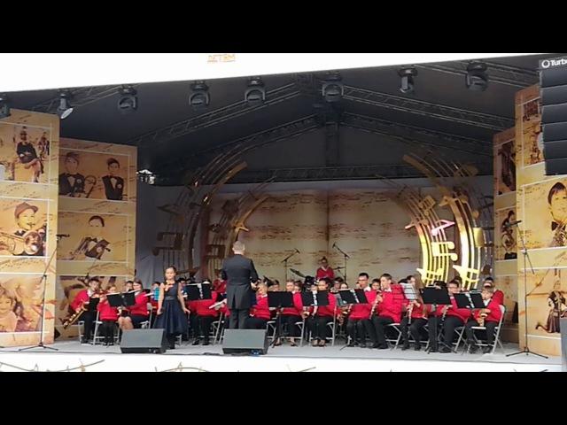 Международный фестиваль Спасская Башня. Выступление образцового духового оркестра Аничкова Дворца (Санкт-Петербург) с 45 по 10