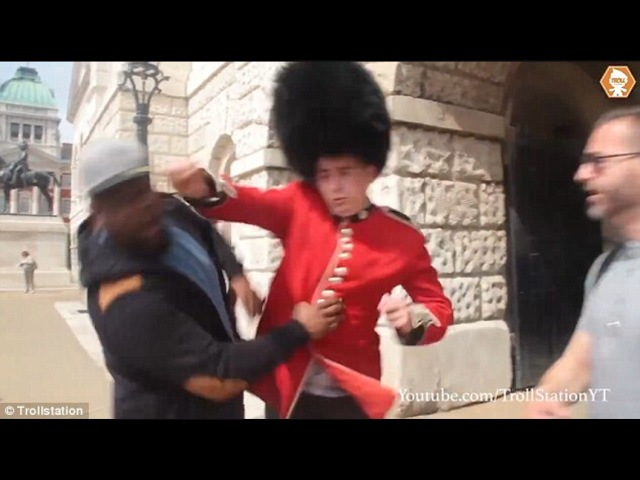 Why you don't mess with the queens guards
