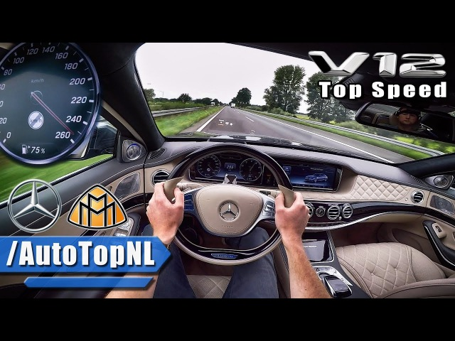 MERCEDES MAYBACH 6.0 V12 BiTurbo ACCELERATION TOP SPEED AUTOBAHN POV by AutoTopNL