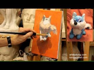 Этюд лисенка - Обучение живописи. Масло. Введение, серия 7.2 » Freewka.com - Смотреть онлайн в хорощем качестве