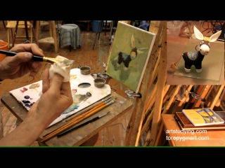 Этюд ослика - Обучение живописи. Масло. Введение, серия 7.3