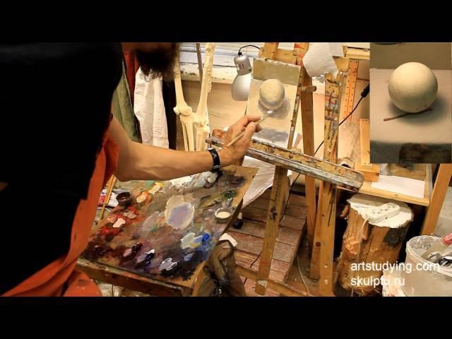 Еще шар. Обучение живописи. Масло. Введение, серия 3.1 » Freewka.com - Смотреть онлайн в хорощем качестве