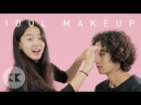 Korean Guys Try K-pop Idol Makeup For The First Time - BTS & EXO