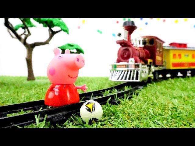 Peppa Juegos Peppa Pig 🐷está atascada en el ferrocarril. Vídeos educativos de una conducta ejemplar