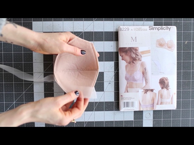 Sew Your Own Bra I How To Finish Top Edge of Foam Bra Cup