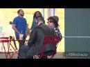 Vegan man screams on starbucks customer