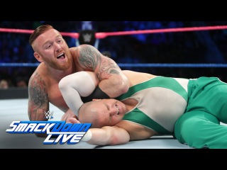 Heath Slater & Rhyno vs Spirit Squad - SmackDown Tag Team Title Match: SmackDown LIVE, Oct. 25, 2016