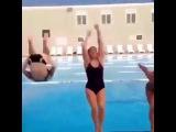 Amazing Girls Back Flip | Swimming Pool