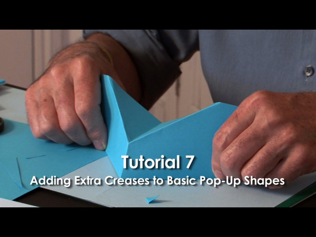 Pop Up Tutorial 7 Adding Extra Creases to Basic Pop Up Shapes Part 1