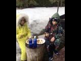 Ксения Бородина и Курбан Омаров устроили пикник на свежем воздухе для детей