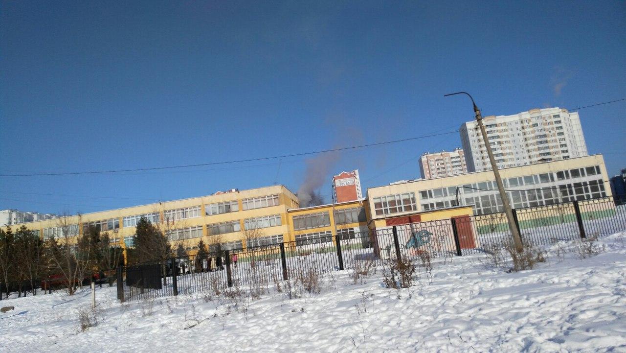 ВСерпухове загорелась школа