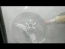 Процесс пескоструйной обработки от старой краски, битума, грязи мото диска R17 Профессиональная порошковая покраска литых, к