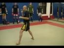 Ajahn Burklerk Foot Work and Kicking pads