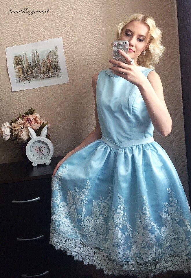 Красивое голубое платье из магазина Sisjuly - Отличный вариант для Выпускниц