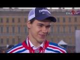 Артем Зуб на чемпионском параде СКА