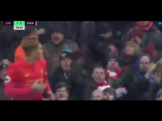 Обзор матча 22 тура Ливерпуль-Суонси(2-3)