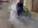 Frenzy Ryderz Kawasaki ninja zx9r zx-9r crashing half moon burnout