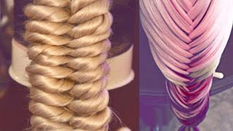 9 кос | Авторские причёски | Лена Роговая | Hairstyles by REM | Copyright ©