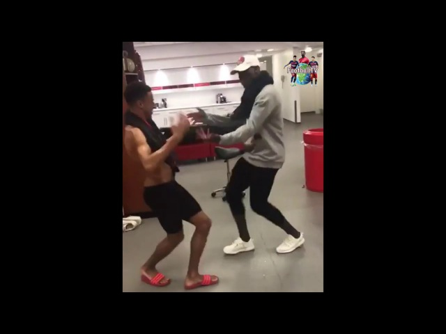 Paul Pogba Jesse Lingard have a special Dance Handshake in the Locker Room