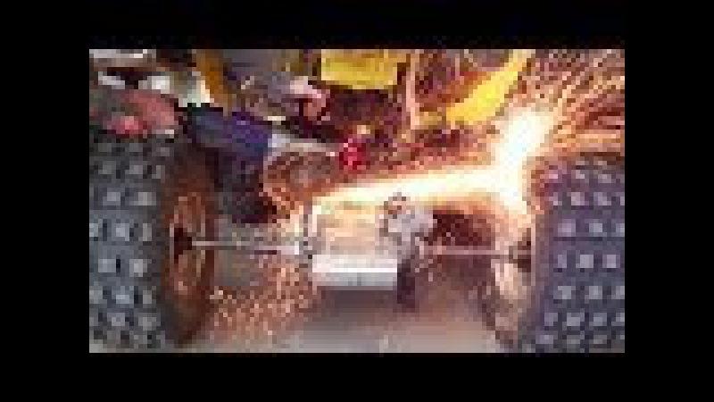 Replacing Chain and Sprockets | Wymiana napędu łańcucha zębatek w quadzie | Quad Atv Suzuki LTZ 400