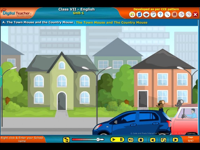 The Town Mouse and the Country Mouse, Class 7 English | Digital Teacher