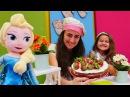 çocukdizisi Mini Mutfak Elsa ile çilekli pasta yapıyoruz çizgifilmoyuncakları