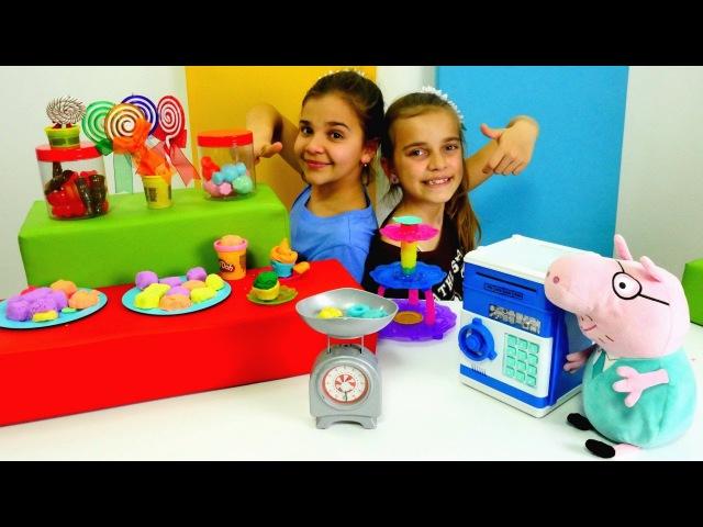 🍨 Yıldız Kafe Oyunları 🍭Peppa Pig Sema'nın kafesinde 🐷 Tatlı yapma oyunu oyna 🍬🍰 hamurOyunları