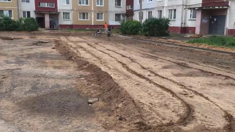 Сегодня прошли съёмки Пионер-ТВ о том, как проходит благоустройство дворовой территории дома 25 по улице Гагарина. Уточним, чт