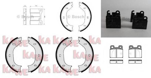 Комплект тормозных колодок для BMW 2000-3.2 купе (E9)