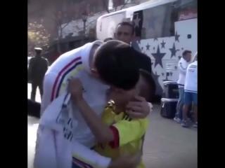 James Rodriguez and big fan