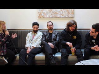 Bastille interview backstage at Ascend Amphitheater