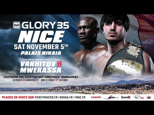 GLORY 35 Nice: Mwekassa vs Vakhitov pour le titre mi-lourd