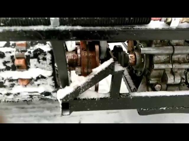мотособака двухгусеничный снегоход для рыбалки охоты видеообзор
