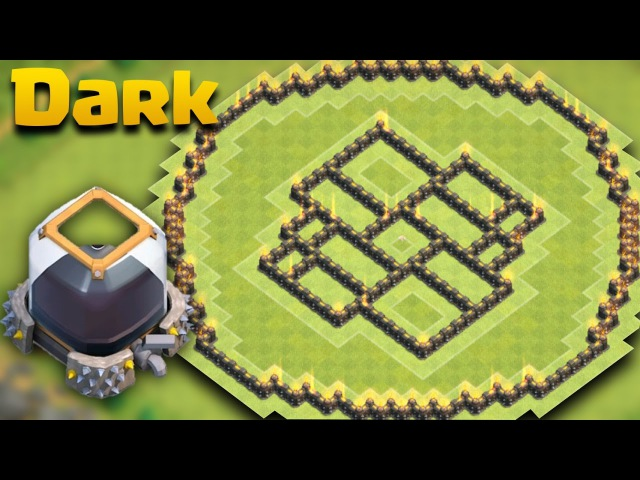 TH9 (Town Hall 9) Dark Elixir Protection Base (The Ball) Defense Log Against All Farming Combo