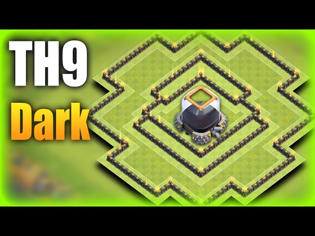 TH9 (Town Hall 9) Dark Farming Base 2017 | Protect TH De Storage Replays | Clash Of Clans