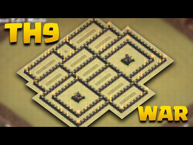 Replays For TH9 Weirdest War Base Ever (THE ROBO) | Is Symmetrical Base Good?