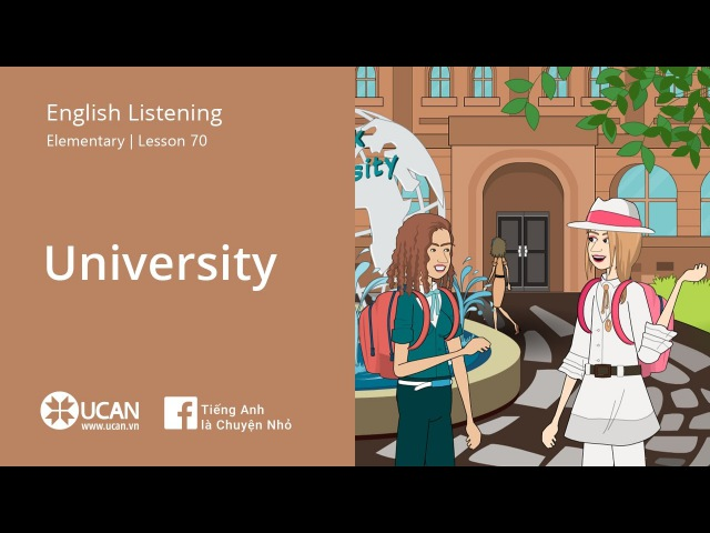 Learn English Listening | Elementary - Lesson 70. University