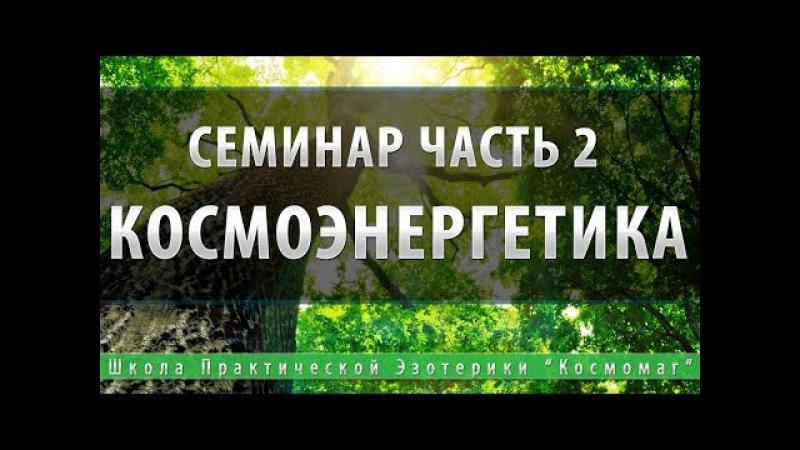 Игорь Андреев, семинар школы космоэнергетики Единство часть 2