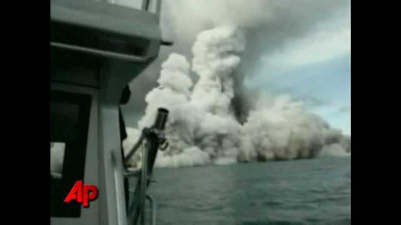 Raw Video Undersea Volcano Erupts