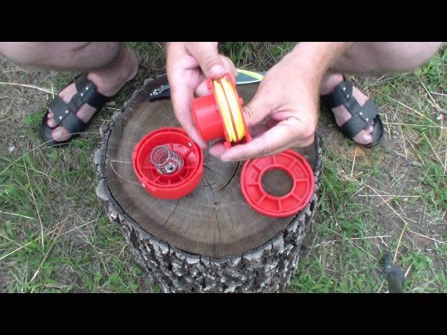 Как правильно намотать и выбрать леску на косильную головку мотокосы или тримера