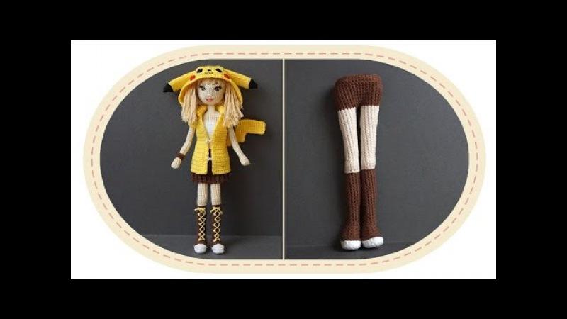 Девушка Пикачу крючком, часть 3 (Тело, часть 1). Crochet Pikachu girl, part 3 (body, part 1).