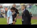 Messi debut con Argentina expulsión 2005
