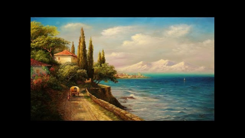 Oil Painting Mediterranean By Yasser Fayad