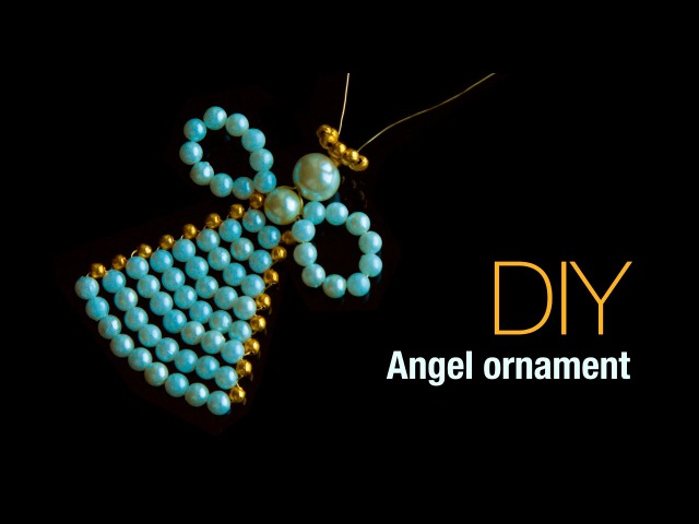DIY christmas angel ornaments |Holiday room decor | ANGELITOS NAVIDEÑOS |Beads art