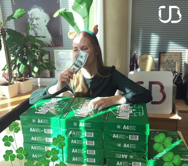 Рабочий день в офисе УБРиР в самом разгаре. Но это же день святого Пат