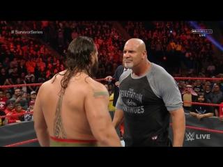 РУС 545TV: WWE / RAW /  - Голдберг укладывает Русева и Пола Хеймана / Весь сегмент
