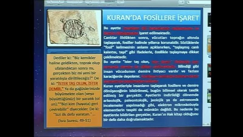 Kuran mucizeleri Kuran'da fosillere işaret