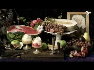 «Еда как искусство». Десерт с фруктами и козьим сыром по мотивам Абрахама Брейгеля
